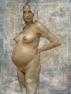 Sienna pregnant, 2012 © Jonathan Yeo