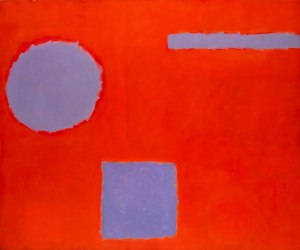 Patrick Heron, Three Blues in Red, 1962 © Agnew's Gallery, co. London Art Fair
