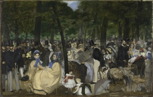 Music in the Tuileries Gardens, 1862, courtesy The National Gallery, London. Sir Hugh Lane Bequest, 1917.