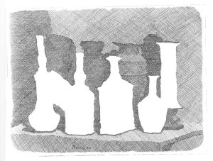 Giorgio Morandi, Still Life of Vases on a Table, 1931, Etching, Courtesy Galleria d'Arte Maggiore G.A.M., Bologna