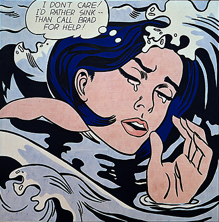 Great Lichtenstein reassessment exhibition at Tate Modern in London. (3/5)