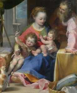 The Madonna and Child with Saint Joseph and the Infant Baptist (La Madonna del Gatto) about 1575 © The National Gallery, London