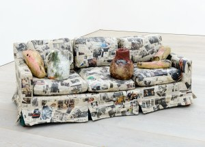 Couch for a long time (2009) by  Jessica Jackson Hutchins © Sam Drake, image courtesy of the Saatchi Gallery, London