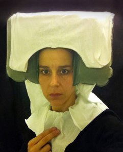 Lavatory self-portrait in the Flemish style #11 (2011) by Nina Katchadourian, image courtesy of the Saatchi Gallery