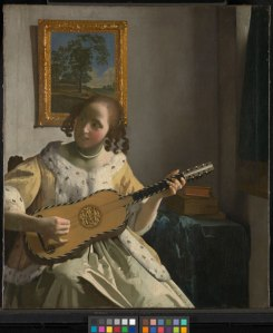 Johannes Vermeer, The Guitar Player (about 1672) on loan from English Heritage, The Iveagh Bequest (Kenwood) © English Heritage