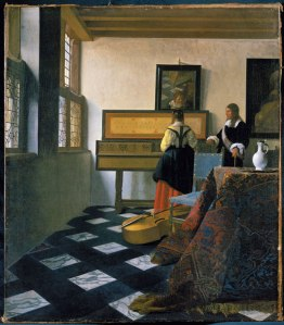 Johannes Vermeer, The Music Lesson (about 1662-3) Royal Collection Trust © Her Majesty Queen Elizabeth II 2013