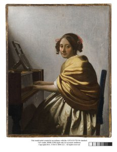 Johannes Vermeer, Young Woman Seated at a Virginal (about 1670-1672) Private collection, New York © Photo courtesy of the owner