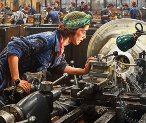 Ruby Loftus Screwing a Breech Ring, 1943 © IWM