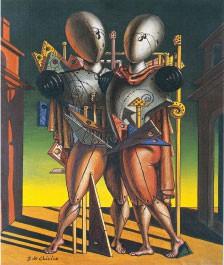 Hector and Andromache, 1942, Giorgio de Chirico ©DACS 2014, Courtesy Galleria d'Arte Maggiore, Bologna (Italy)