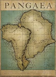Pangea Map Brochure Cover @ Saatchi Gallery