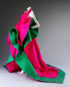 Evening dress of silk, Roberto Capucci (1987-1988) Courtesy Roberto Capucci Foundation, Photo © Victoria and Albert Museum, London