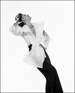Gianfranco Ferre advert, model Aly Dunne, Ph. Gian Paolo Barbieri (1991) © GIANPAOLOBARBIERI