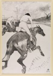 Henri de Toulouse-Lautrec (1864-1901) The Jockey, 1899 © The Courtauld Gallery, London