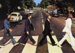 The Abbey Road album cover by The Beatles