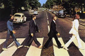 Front cover of The Abbey Road album by The Beatles, copyright Ian MacMillan