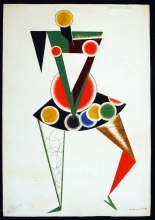 Costume design for We, 1919-1920, Alexander Rodchenko © A. A. Bakhrushin State Central Theatre Museum