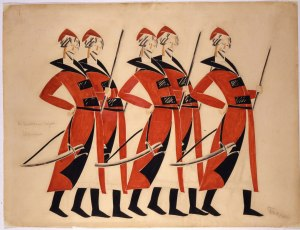 Costume design for Life for the Tsar, 1913-1915, Vladimir Tatlin © A. A. Bakhrushin State Central Theatre Museum