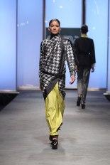 Houndstooth sari by Abraham and Thakore, Hyderabad 2011 Photograph courtesy of Abraham Thakore