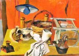 Still Life with Lamp (Still Life with Skull and Lamp), 1940-41, Co. Galleria d'Arte Maggiore, Bologna