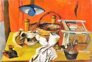 Still Life with Lamp (Still Life with Skull and Lamp), 1940-41, Co. Galleria d'Arte Maggiore, Bologna © Estorick Collection, London
