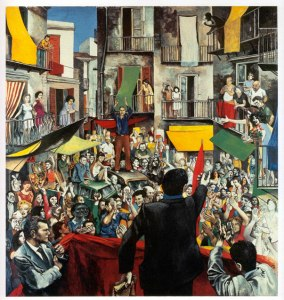 Neighbourhood Rally, 1975, Courtesy Galleria d'Arte Maggiore, Bologna © Estorick Collection, London