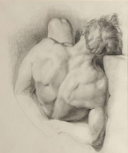 John Everett Millais, Male nude study, c. 1847 © Dean Collection, Towneley Hall Art Gallery and Museum