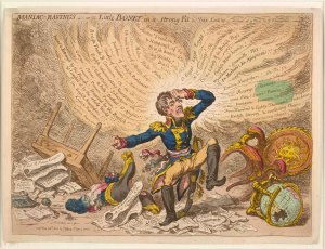 Maniac Ravings, 1803 James Gillray (1756 - 1815), London, Hand-coloured etching on paper © The Trustees of the British Museum