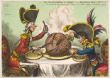 The Plumb-pudding in Danger, 1805, James Gillray (1756 - 1815), London, Hand-coloured etching on paper © The Trustees of the British Museum