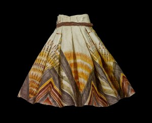 Barkcloth dance skirt, pā'ū, by Dalani Tanahy, O'ahu, Hawaiian Islands, 2014 © The Trustees of the British Museum, Courtesy of the artist
