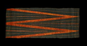 Oc,HAW.19 Barkcloth, kua'ula, Hawaiian Islands, Eastern Polynesia, late 18th Century © The Trustees of the British Museum