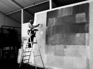 The artist in his studio, 2003. Photo: Ute Mack © Ben Brown Fine Arts, London