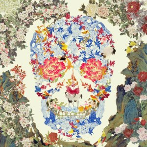 Chinese Floral Skull, 2015, co. Fine Art Society, London, ® Jacky Tsai