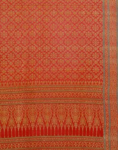 Ceremonial cloth woven silk and gold-wrapped thread Gujarat for the Thai market, 19th century, Victoria and Albert Museum, London.