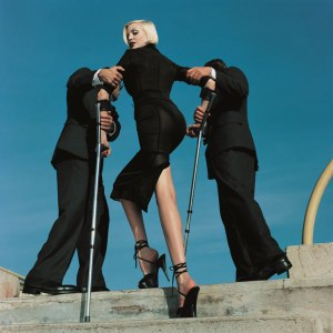 HN Nadja Auermann Fashion, Dolce & Gabbana, American Vogue Monte Carlo, 1995, © V&A Museum London.