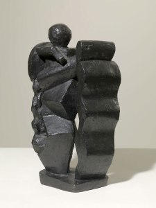 Alberto Giacometti, Composition (Femme au bouclier), 1927-1928. Private Collection, co. of Luxembourg & Dayan. © The Estate of Alberto Giacometti (Fondation Giacometti, Paris and ADAGP, Paris), licensed in the UK by ACS and DACS, London 2016.