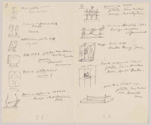 Alberto Giacometti, Letter to Pierre Matisse, 1947 © The Estate of Alberto Giacometti (Fondation Giacometti, Paris and ADAGP, Paris), licensed in the UK by ACS and DACS, London 2016. Courtesy of the Pierpont Morgan Library, New York. Gift of the Pierre Matisse Foundation, 1997