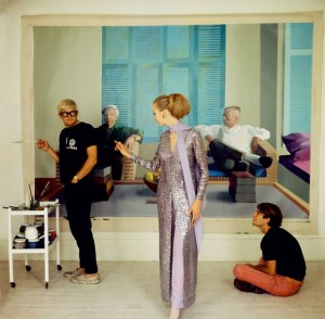 David Hockney, Peter Schlesinger and Maudie James by Cecil Beaton, 1968 © The Condé Nast Publications Ltd, co. National Portrait Gallery, London.