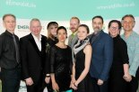 Peter Tatchell, Steve Wardlaw (Chairman Emerald Life), Emily Tull (Finalist), Rosso (Winner), Matthew Stradling (Finalist), Aleksandra Karpowicz (Finalist), Nicolas Laborie (Finalist), Heidi McCormack (CEO Emerald Life), Simon Tarrant (Director Art Awards) © photo by Tania Olive, co. Emerald Winter Pride Art Awards, by Islington arts Factory, London.