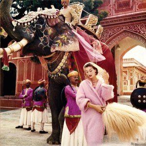 Anne Gunning in Jaipur by Norman Parkison, 1956 © Norman Parkison Ltd, courtesy Norman Parkison Archive, co. National Portrait Gallery, London.