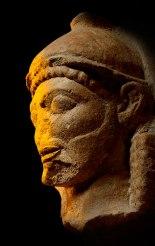 Limestone head from a temple, Selinous, Sicily, c. 540–510 BC. Museo Archeologico Regionale A Salinas, Palermo © Regione Siciliana, image co. British Museum, London.