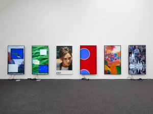 Exhibition 'currentmood' Installation view, 2016 © Cory Arcangel, co. Lisson Gallery, London.