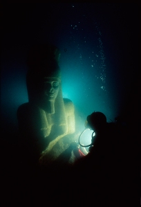 Colossal statue of god Hapy, Thonis-Heracleion, Aboukir Bay, Egypt, ph. Christoph Gerigk © Franck Goddio / Hilti Foundation, co. British Museum, London.