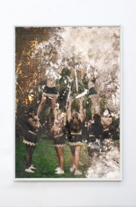"Jeremy Everett ""Untitled (Buried Cheerleader)"" Buried C-print © ph. Kristin Hjellegjerge gallery, London"