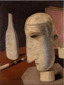 Gentiluomo Ubriaco, 1916, exhibition Carlo Carrà Metaphysical Spaces © Blain Southern Gallery, London