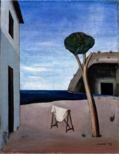 Il pino sul mare, 1921, exhibition Carlo Carrà Metaphysical Spaces © Blain Southern Gallery, London
