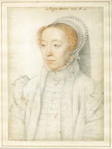 Portrait of Catherine de Medici, François Clouet (1519-1589), 1550 © The Trustees of the British Museum