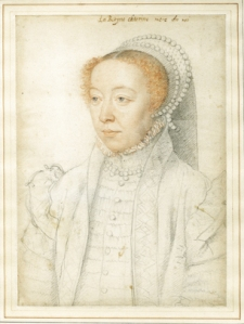 Portrait of Catherine de Medici, François Clouet (1519-1589), 1550 © The Trustees of the British Museum
