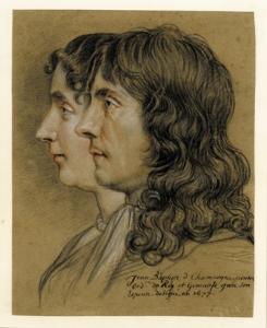 Portrait of Jean-Baptiste de Champaigne and his wife Geneviève , Nicolas de Plattemontage, 1677 © The Trustees of the British Museum