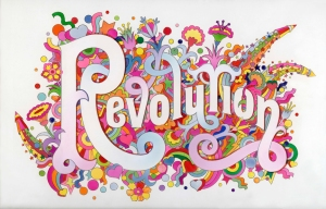 The_Beatles, Illustrated Lyrics Revolution (1968) by Alan Aldridge © Iconic Images Alan Aldridge, ph. co. V&A Museum, London