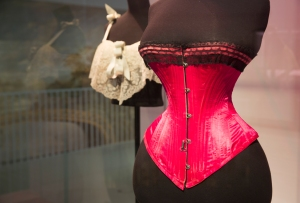 Installation view of Undressed A Brief History of Underwear exhibition, 16 April 2016 – 12 March 2017, co. Victoria and Albert Museum London
